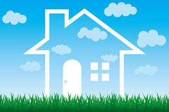 Sky house. This graphic is sky house Stock Photography