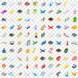 100 sky icons set, isometric 3d style. 100 sky icons set in isometric 3d style for any design vector illustration Stock Images