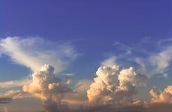 Sky. Indigo sky with orange low cloud Stock Photography
