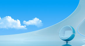 Sky interior copyspace royalty free stock photography