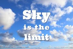 Free Sky Is The Limit Royalty Free Stock Photography - 176067647