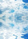 Sky and its reflection Stock Images