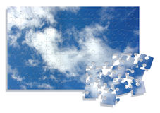 Sky jigsaw Royalty Free Stock Photography