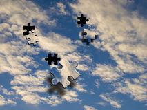 Sky jigsaw. Blue sky image with jigsaw effect Stock Photography