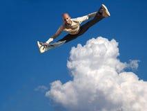 Sky jump Stock Photo