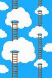 Sky ladders royalty free illustration
