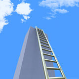 Sky Ladders Indicates Step Upwards And Raise Royalty Free Stock Photos