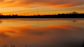 Sky lake. Autumn Colorado sunset Royalty Free Stock Photography