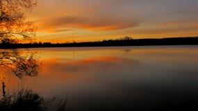 Sky lake. Autumn Colorado sunset Stock Photography