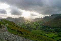 Dramatic sky in Lake District Royalty Free Stock Photo