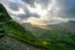 Sky in Lake District Stock Image