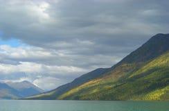 Sky lake and mountains Stock Photography