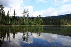 Sky Lakes Wilderness Reflections. Reflections in the water at one of the many lakes found in the Sky Lakes Wilderness of the Winema National Forest in southern Royalty Free Stock Photography