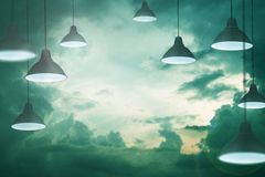 Sky of lamps royalty free stock photos