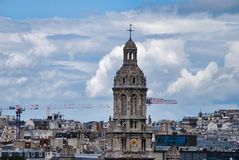 Sky, landmark, city, tower, building, town, cloud. Sky is landmark, building and urban area. That marvel has city, town and daytime and that beauty contains Stock Photography