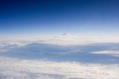 Sky landscape. And clouds prateria from airplane Stock Image