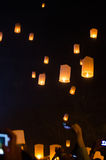 Sky lantern chiangmai thailand Royalty Free Stock Photography