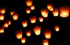 Sky Lantern Festival in Taipei. Stock Photos