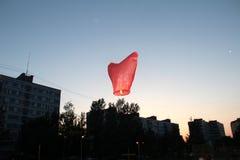Sky lantern flies Royalty Free Stock Photo