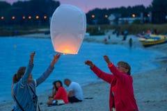 Sky lantern Royalty Free Stock Photography