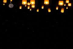 Sky lanterns festival,Thailand, Loy Krathong and Yi Peng Festival stock image