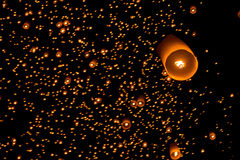 Sky lanterns firework festival, Loy Krathong and Yi Peng Festiva Royalty Free Stock Photos
