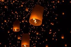 Sky lanterns, Flying Lanterns Stock Photos