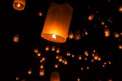 Sky lanterns, Flying Lanterns Stock Image