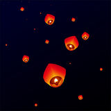 Sky lanterns, Flying Lanterns Stock Photos