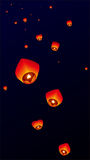 Sky lanterns, Flying Lanterns Stock Photography