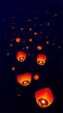 Sky lanterns, Flying Lanterns Royalty Free Stock Photography