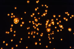 Sky lanterns in Lantern Festival Stock Photography