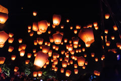 Sky lanterns in Lantern Festival royalty free stock photos