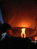Sky lanterns. Launch into the air  Sky lanterns Stock Image