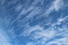 The Sky. In Las Vegas the Clouds had a beautiful formation Stock Images