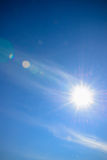 Sky with lens flare Stock Photo