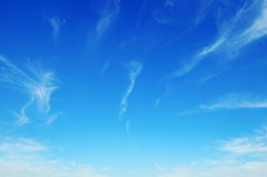 Sky with light clouds. Beautiful blue sky with light clouds Royalty Free Stock Photo