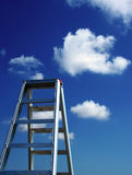 The Sky is the Limit. Ladder of Success - Sky is the Limit Stock Images