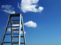 The Sky is the Limit. Ladder of Success - Sky is the Limit Royalty Free Stock Image