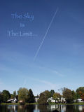 The Sky Is The Limit. An idiom photo based on the saying the sky is the limit Stock Photo