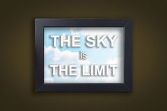 The sky is the Limit in sky photo frame Royalty Free Stock Photo