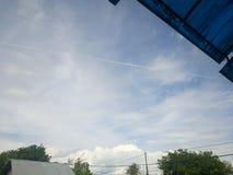 Sky line. Beautifull sky blue Stock Photography