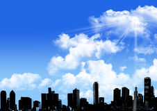 Sky line with blue sky Royalty Free Stock Photo