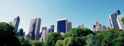 Sky Line From Central Park Stock Photography