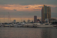 Sky Line in Manila Royalty Free Stock Images