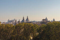 Sky line rome. Sky line in rome in summer Royalty Free Stock Photography