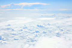 Sky. Looking Out Through Airplane Window Stock Photography
