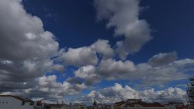 Sky in Madrid stock footage