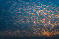 Sky with mall clouds. Royalty Free Stock Images