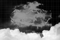 Sky Manipulation 1 Black and Whiter Backgrounds on white square Royalty Free Stock Images